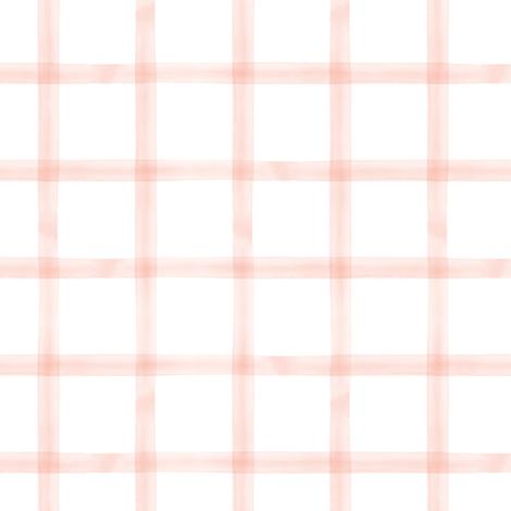 watercolor window pane plaid || pink blush fabric by littlearrowdesign on Spoonflower - custom fabric
