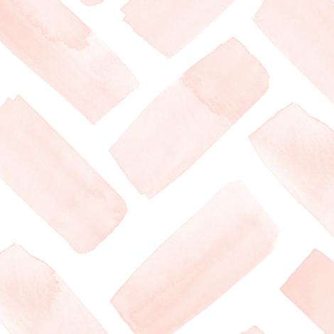 (jumbo scale) watercolor herringbone - pink blush fabric by littlearrowdesign on Spoonflower - custom fabric