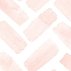 (jumbo scale) watercolor herringbone - pink blush