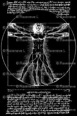 8 censored Vitruvian Man Leonardo da Vinci classical Renaissance anatomy anatomical studies portraits antique nude naked black white monochrome ratios architecture nudity circles squares body proportions mathematics art