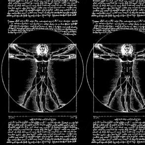 4 uncensored Vitruvian Man Leonardo da Vinci classical Renaissance anatomy anatomical studies portraits antique nude naked black white monochrome ratios architecture nudity circles squares body proportions mathematics art