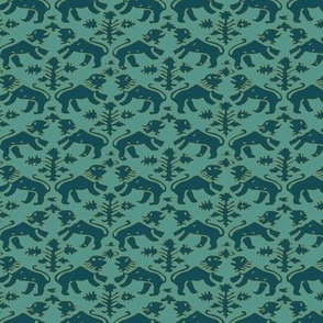 Teal Florence with Aqua Back