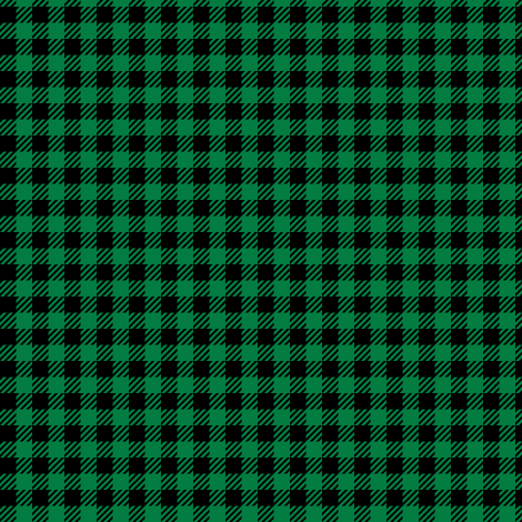 "1/4"" plaid - black and green fabric by littlearrowdesign on Spoonflower - custom fabric"