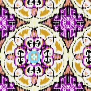 Isabella, Rosette Medallion, Washy Purple  Gold