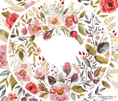 Wildflower Roundie Play Mat Sew Your Own Panel fabric by erin__kendal on Spoonflower - custom fabric