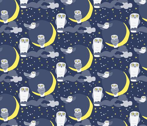 snowyowl fabric by fleabat on Spoonflower - custom fabric