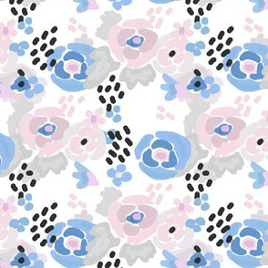 Flower pattern retro