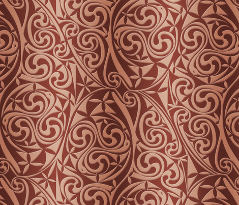 Celtic Warlord copper fabric by spellstone on Spoonflower - custom fabric