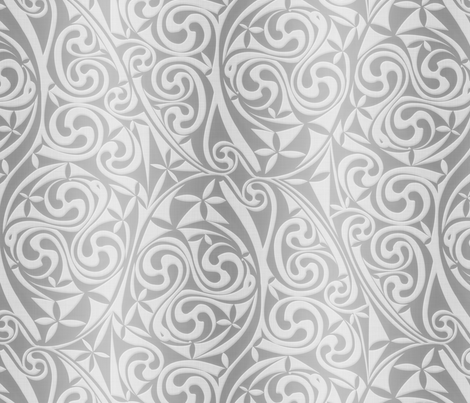 Celtic Warlord silver fabric by spellstone on Spoonflower - custom fabric
