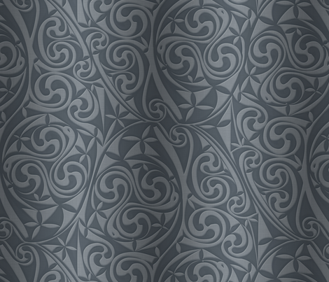 Celtic Warlord steel fabric by spellstone on Spoonflower - custom fabric