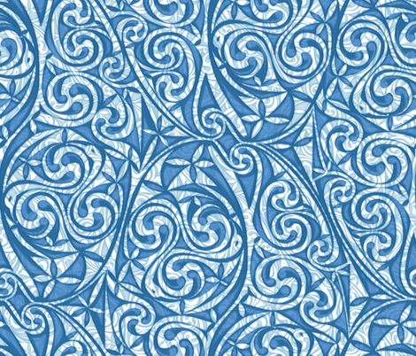 Celtic Warlord woad fabric by spellstone on Spoonflower - custom fabric