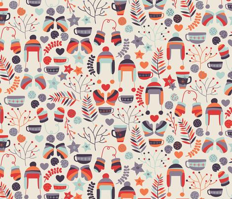 Winter fabric by matite on Spoonflower - custom fabric