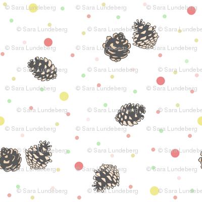 Pine Cones with dotts