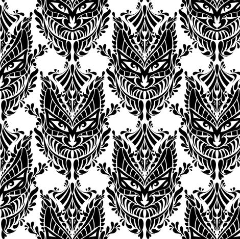Mask Black and White fabric by jadegordon on Spoonflower - custom fabric