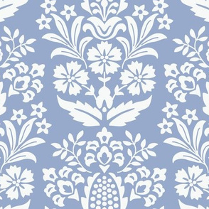Pineapple Damask Light Blue