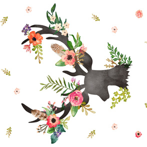 """54""""x36"""" Floral Dreams Deer"""