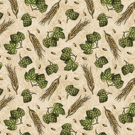 SW - Hops fabric by malibu_creative on Spoonflower - custom fabric