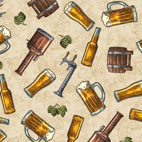 SW - Beer fabric by malibu_creative on Spoonflower - custom fabric
