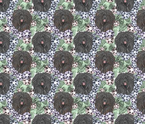 Floral Puli portraits fabric by rusticcorgi on Spoonflower - custom fabric