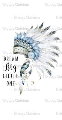 "56""x108"" / 3 yards of any 56"" wide fabric / Dream Big Little One / Chief"