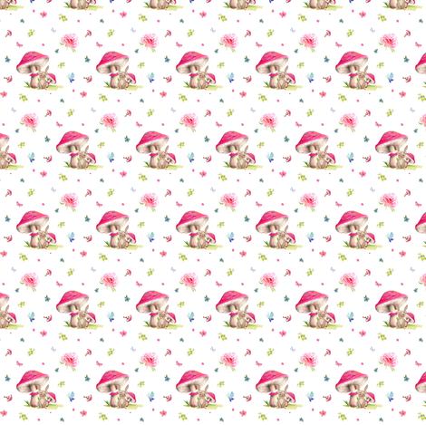 "1.5"" Mushroom Bunny Home fabric by shopcabin on Spoonflower - custom fabric"