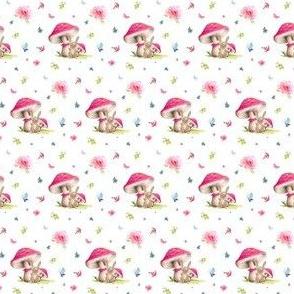 "1.5"" Mushroom Bunny Home"