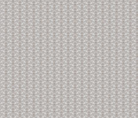 Grey + Beige Flourish Wallpaper fabric by brandilyn_wycoff on Spoonflower - custom fabric