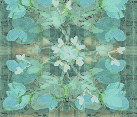darker  blue winged blueygreenjpg fabric by janetteatkinson@yahoo_co_uk on Spoonflower - custom fabric