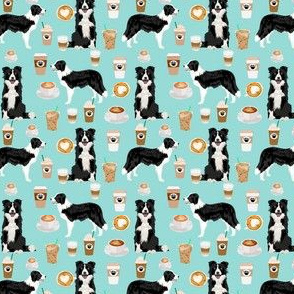 border collie coffee print smaller scale cute border collie coffees best quilting dog fabric dog quilts cute border collies fabric