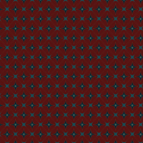 Diamond Wallpaper with Red Back