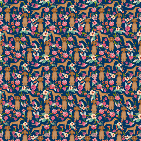 vizsla floral dog fabric smaller florals dog design fabric by petfriendly on Spoonflower - custom fabric