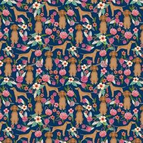 vizsla floral dog fabric smaller florals dog design