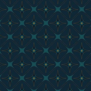 Diamond Wallpaper with Navy Back
