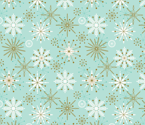 Frosty Flakes ~ chilled fabric by retrorudolphs on Spoonflower - custom fabric