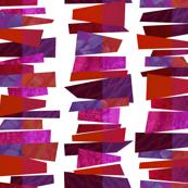 Broken Stripes - Red Fragmentation