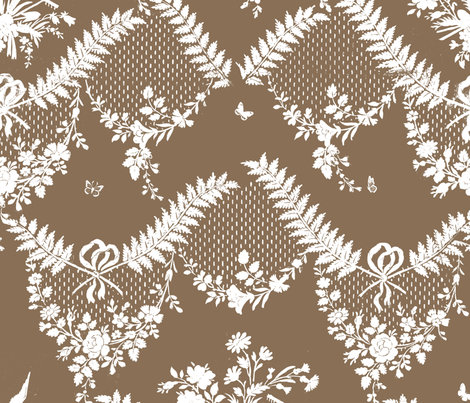 Loire Toile brown sugar fabric by lilyoake on Spoonflower - custom fabric