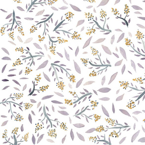 Lavender and Yellow Florals