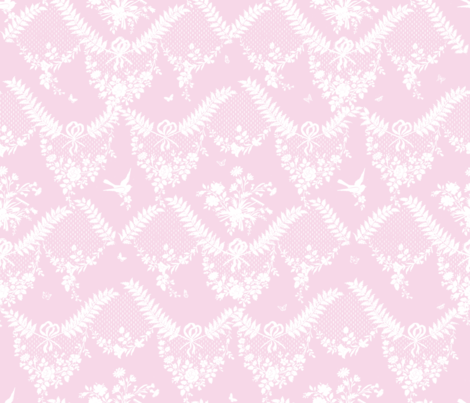 Loire Toile sorbet fabric by lilyoake on Spoonflower - custom fabric
