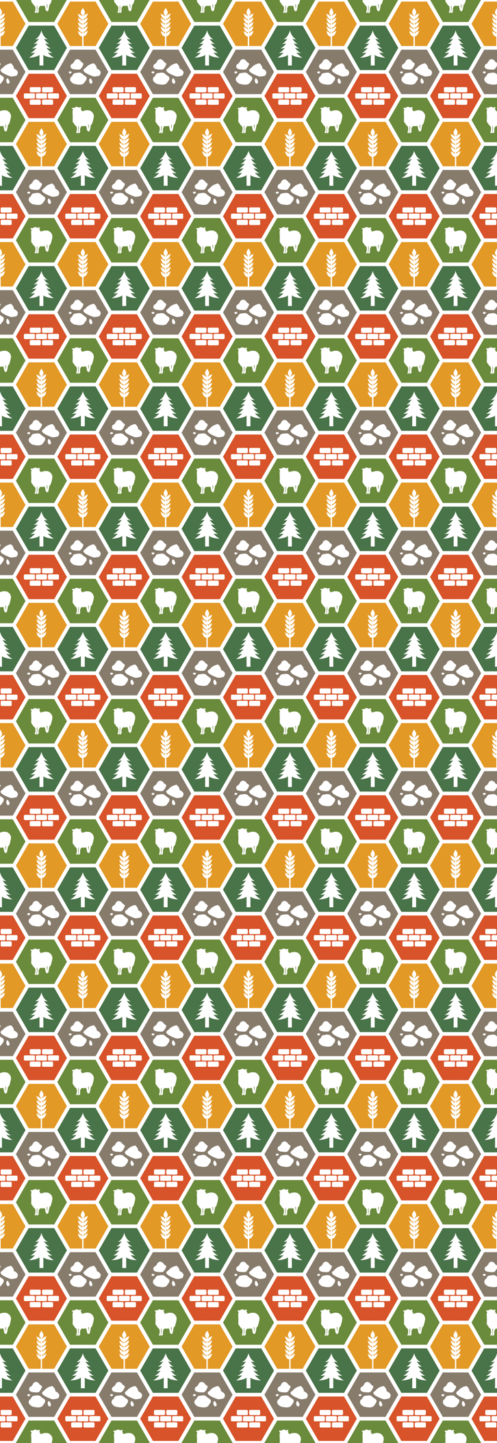 Catan on White fabric by meglish on Spoonflower - custom fabric
