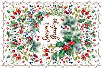 Tea Towel - Winter Wreath