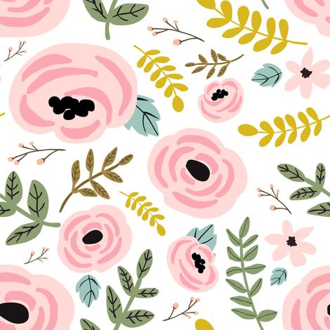 "8"" Summer Rose fabric by shopcabin on Spoonflower - custom fabric"