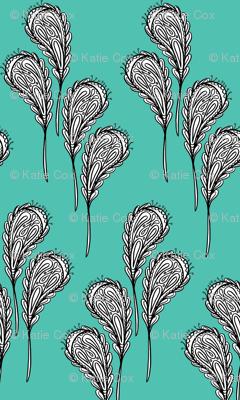 leaf pattern 2 on aqau