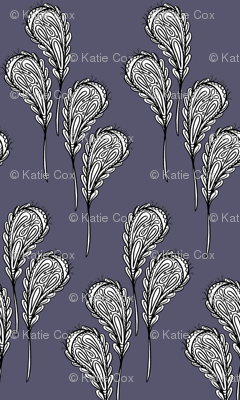 leaf pattern 2 on dark purple