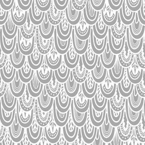 scallops grey white