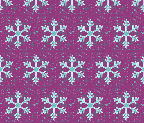 Neon Snowflakes // winter giftwrap xmas holiday christmas fabric  fabric by monica_criswell on Spoonflower - custom fabric