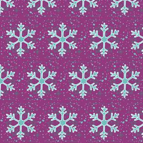 Neon Snowflakes // winter giftwrap xmas holiday christmas fabric