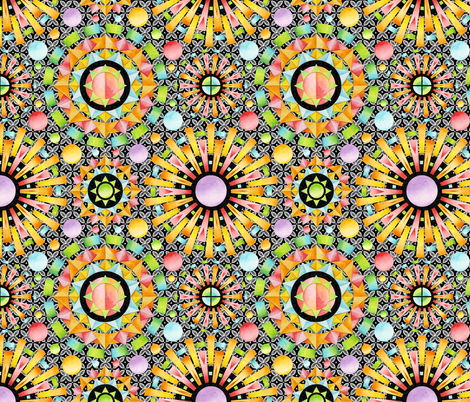 Aurora Mandalas fabric by patriciasheadesigns on Spoonflower - custom fabric