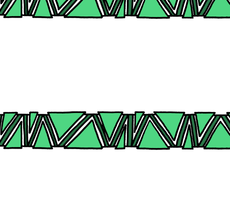 funky triangle wrap stripe Greens on White 3in fabric by cardamom_copy on Spoonflower - custom fabric