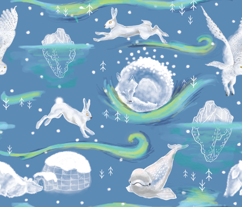 Arctic Party fabric by appaloosa_designs on Spoonflower - custom fabric