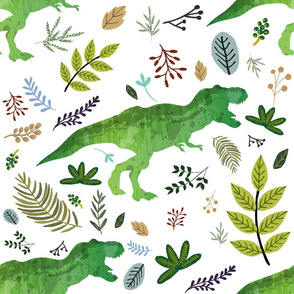 """21"""" Dino and Leaves"""
